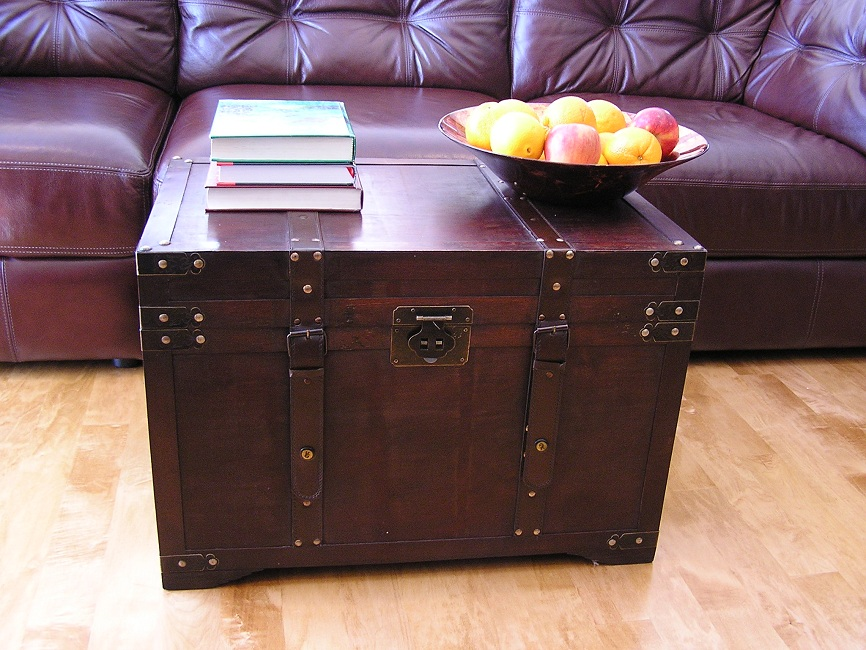 Gold rush large wood storage trunk wooden hope chest ebay