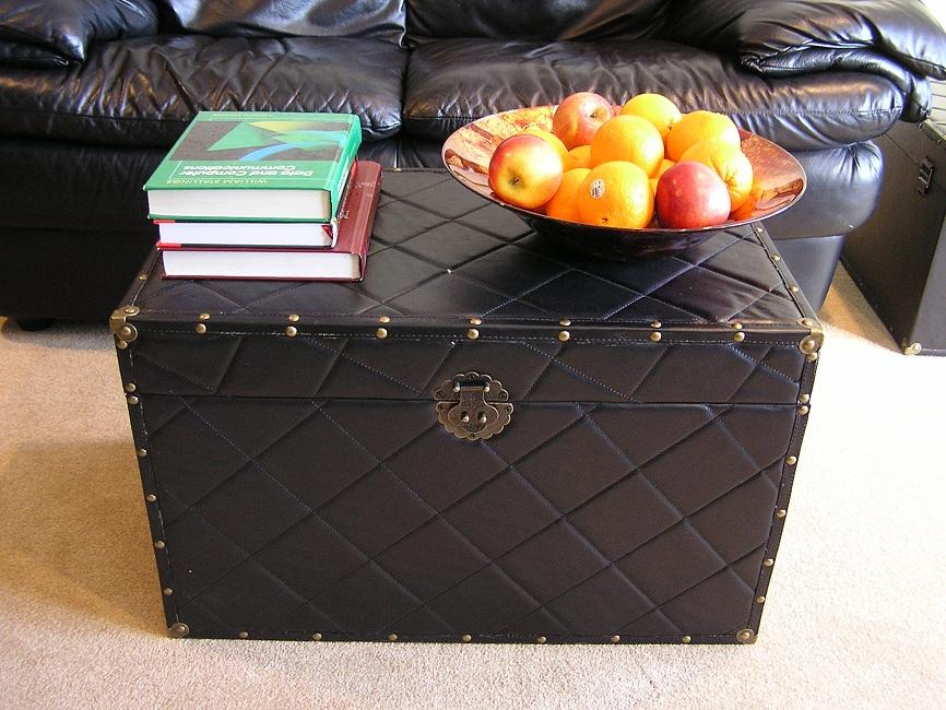 Original Hawaii Trunk, Black Leather Trunk ...