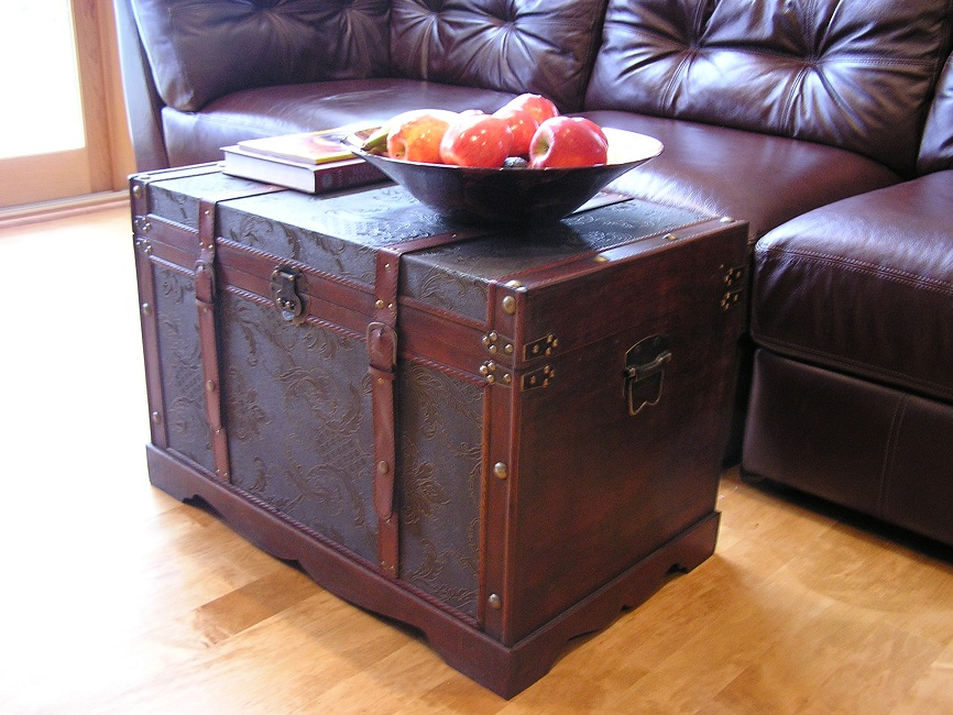Charmant New Orleans Large Wood Storage Trunk Wooden Hope Chest 797734471083 | EBay