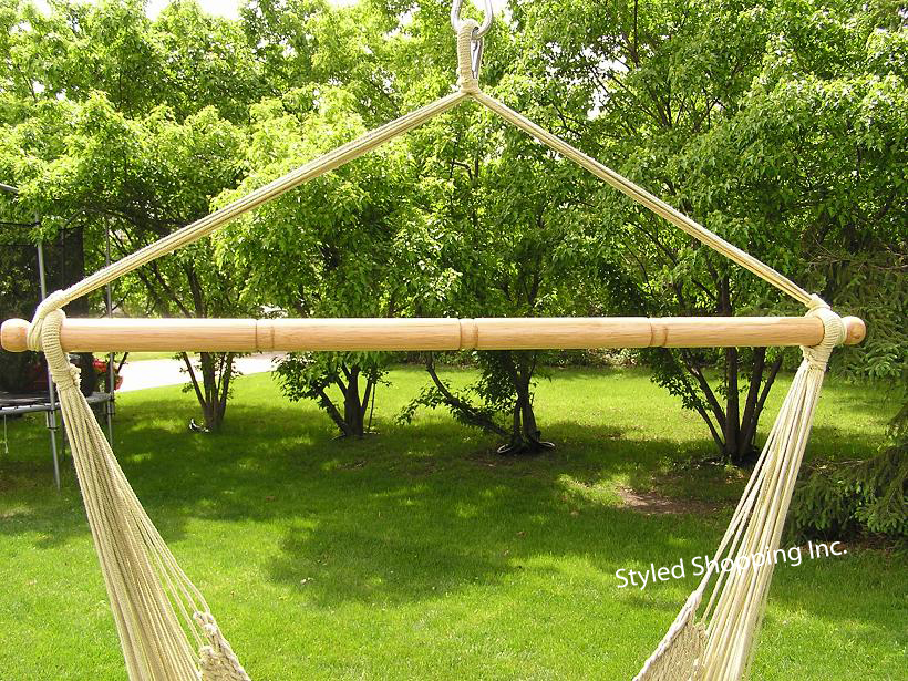 Deluxe Extra Large Tan Soft Poly Rope Hammock Swing Chair