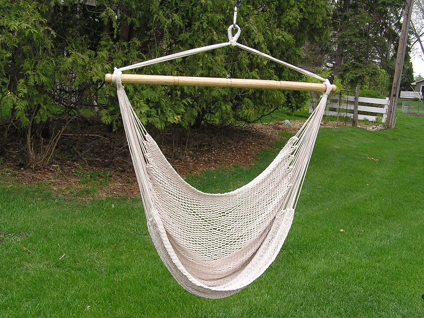 deluxe extra large hand woven white hammock swing deluxe extra large white rope cotton hammock swing chair      rh   ebay
